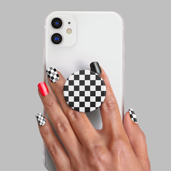 PopSockets Nails Checker Black product