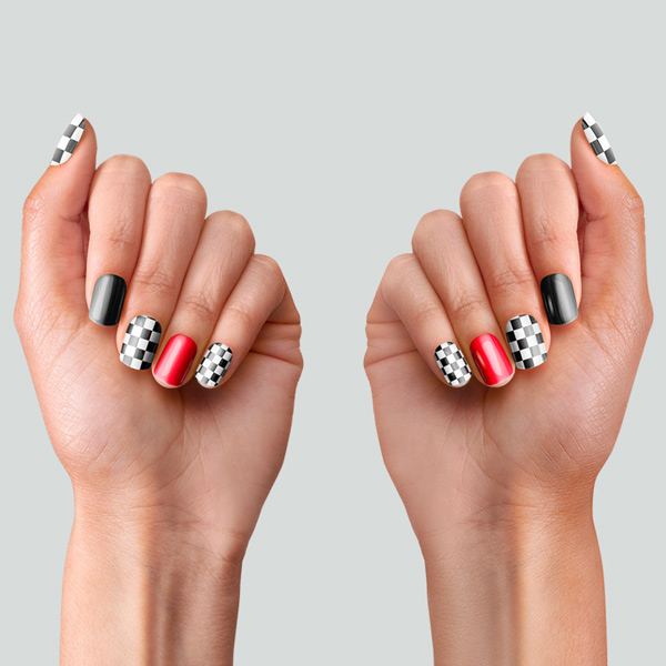 PopSockets Nails Checker Black hover